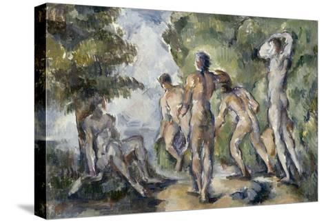 Les baigneurs-Paul C?zanne-Stretched Canvas Print