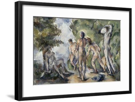 Les baigneurs-Paul C?zanne-Framed Art Print