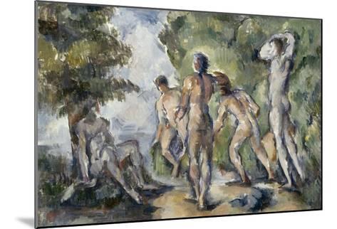 Les baigneurs-Paul C?zanne-Mounted Giclee Print
