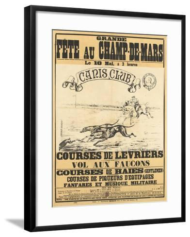 Grande fête au Champs-de-Mars--Framed Art Print
