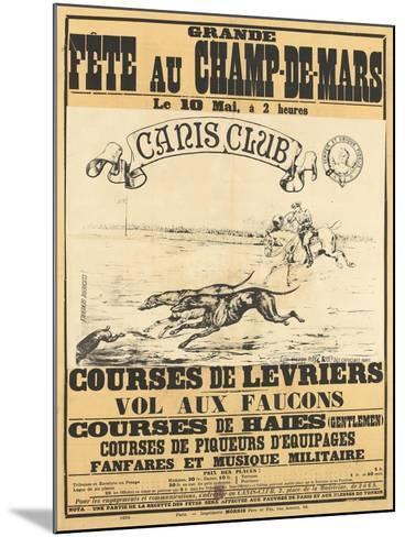 Grande fête au Champs-de-Mars--Mounted Giclee Print