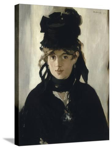 Berthe Morisot au bouquet de violettes-Edouard Manet-Stretched Canvas Print