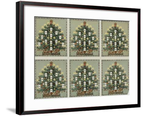 Loto au sapin de Noël--Framed Art Print