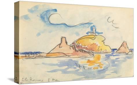 Carnet : Vue de l'île Rousse-Paul Signac-Stretched Canvas Print
