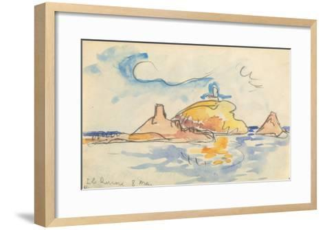 Carnet : Vue de l'île Rousse-Paul Signac-Framed Art Print