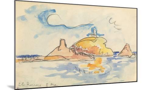 Carnet : Vue de l'île Rousse-Paul Signac-Mounted Giclee Print