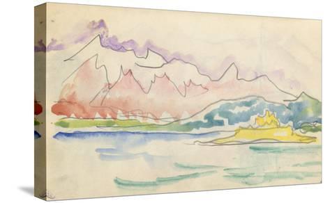 Carnet : Vue du golfe de Calvi ou de Saint-Florent-Paul Signac-Stretched Canvas Print