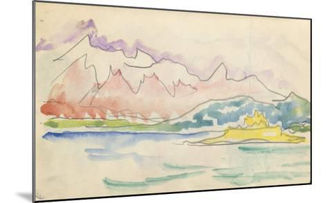 Carnet : Vue du golfe de Calvi ou de Saint-Florent-Paul Signac-Mounted Giclee Print