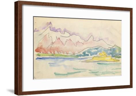 Carnet : Vue du golfe de Calvi ou de Saint-Florent-Paul Signac-Framed Art Print