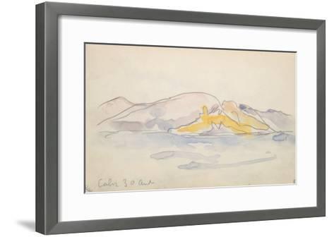 Carnet Corse : Calvi 30 Avril ?-Paul Signac-Framed Art Print