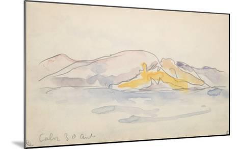 Carnet Corse : Calvi 30 Avril ?-Paul Signac-Mounted Giclee Print