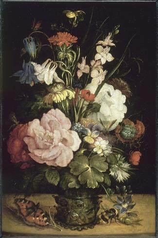 Bouquet de fleurs-Roelandt Savery-Stretched Canvas Print