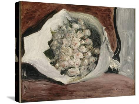 Bouquet dans une loge-Pierre-Auguste Renoir-Stretched Canvas Print