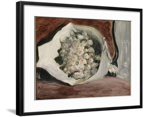 Bouquet dans une loge-Pierre-Auguste Renoir-Framed Art Print