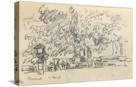 Carnet : Parc à Nîmes-Paul Signac-Stretched Canvas Print