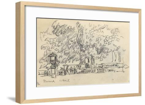 Carnet : Parc à Nîmes-Paul Signac-Framed Art Print