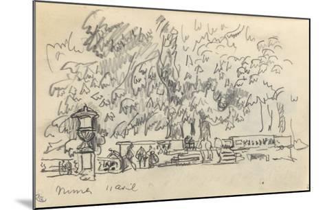 Carnet : Parc à Nîmes-Paul Signac-Mounted Giclee Print