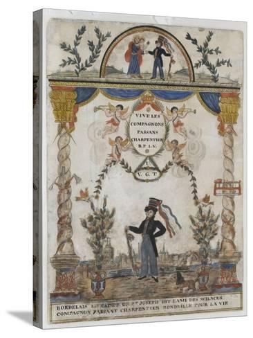 Bordelais le cadet de saint Joseph, dit l'ami des sciences, compagnon charpentier--Stretched Canvas Print