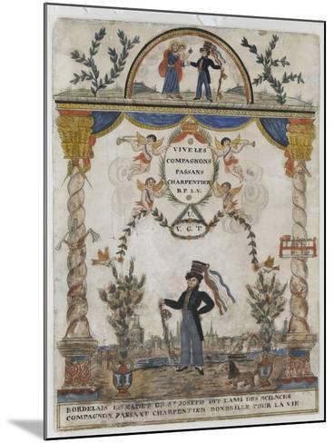 Bordelais le cadet de saint Joseph, dit l'ami des sciences, compagnon charpentier--Mounted Giclee Print