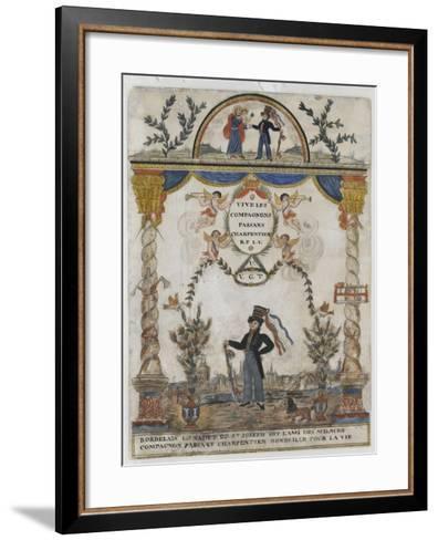 Bordelais le cadet de saint Joseph, dit l'ami des sciences, compagnon charpentier--Framed Art Print
