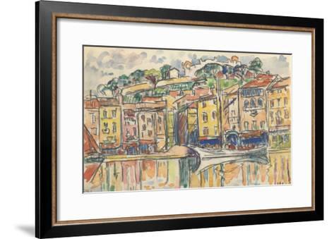 Carnet : Port d'une ville de la côte Méditérranéenne-Paul Signac-Framed Art Print