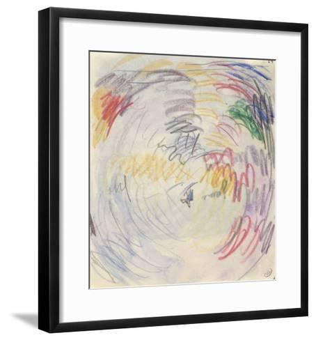 Carnet : Composition circulaire et annotations manuscrites-Paul Signac-Framed Art Print