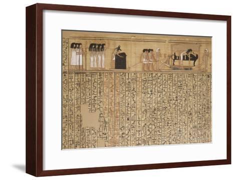 Livre des morts, papyrus de Nebqed--Framed Art Print