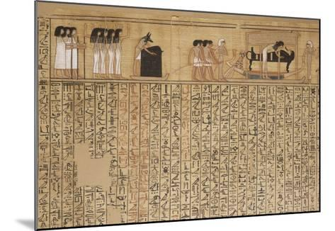 Livre des morts, papyrus de Nebqed--Mounted Giclee Print