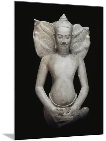 Buddha protégé par le naga--Mounted Giclee Print