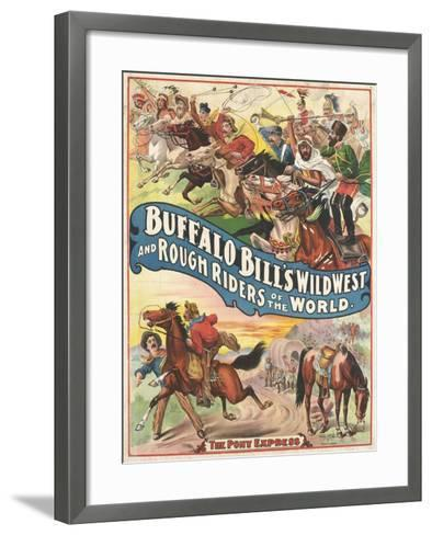 Buffalo Bill's wild west and rough riders--Framed Art Print