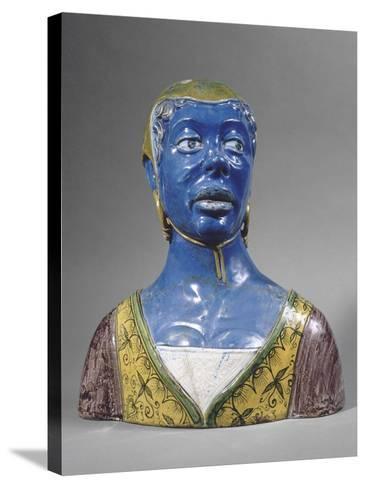 Buste de mauresque-Luca Della Robbia-Stretched Canvas Print