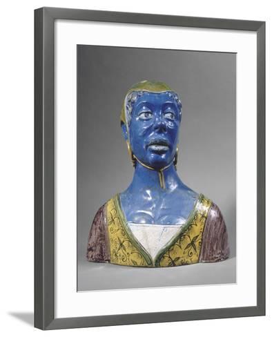 Buste de mauresque-Luca Della Robbia-Framed Art Print