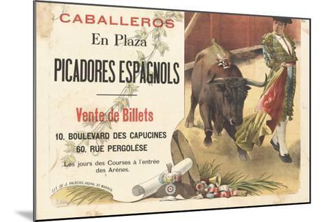Caballeros en plaza, picadores espagnols--Mounted Giclee Print