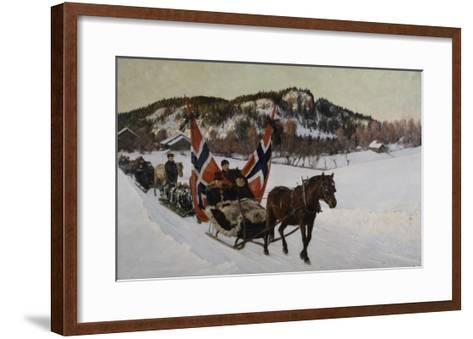 Enterrement d'un marin à la campagne en Norvège-Nils Gustav Wentzel-Framed Art Print