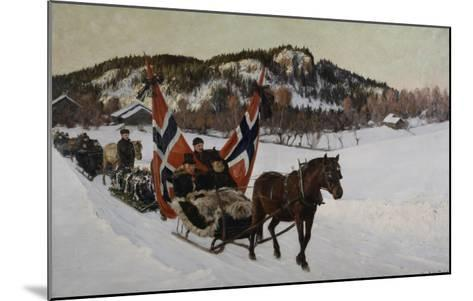 Enterrement d'un marin à la campagne en Norvège-Nils Gustav Wentzel-Mounted Giclee Print