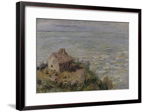 Cabane des douaniers, effet d'après-midi-Claude Monet-Framed Art Print