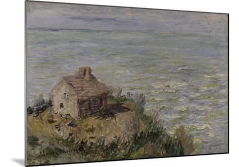 Cabane des douaniers, effet d'après-midi-Claude Monet-Mounted Giclee Print