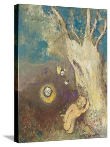 Sommeil de Caliban (Shakespeare, la Tempête, acte II, scène II)-Odilon Redon-Stretched Canvas Print