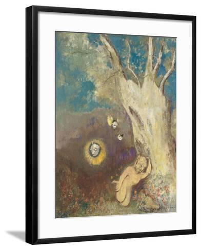 Sommeil de Caliban (Shakespeare, la Tempête, acte II, scène II)-Odilon Redon-Framed Art Print