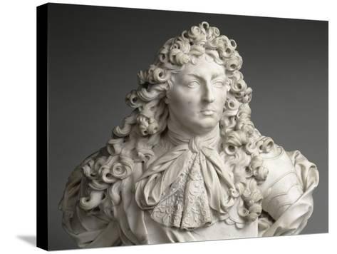 Buste de Louis XIV, roi de France et de Navarre (1638-1715)-Antoine Coysevox-Stretched Canvas Print