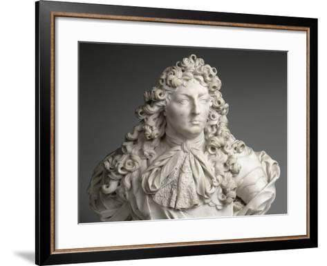 Buste de Louis XIV, roi de France et de Navarre (1638-1715)-Antoine Coysevox-Framed Art Print