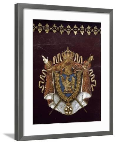 """Voiture de Napoléon pendant campagne de Russie : """"landau en berline"""", fourni par Getting en 1812.--Framed Art Print"""