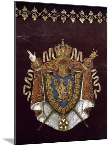 """Voiture de Napoléon pendant campagne de Russie : """"landau en berline"""", fourni par Getting en 1812.--Mounted Giclee Print"""