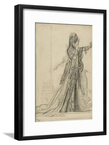 "Carton 84-2. Etude pour ""Salomé"" (collection Hammer)-Gustave Moreau-Framed Art Print"