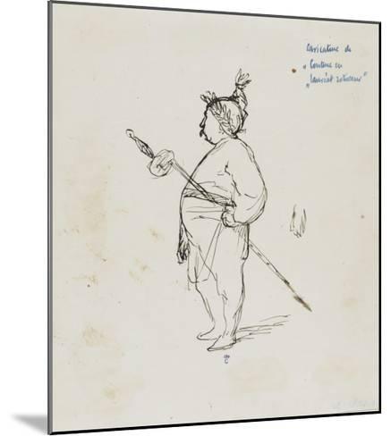 Caricature de Thomas Couture par lui-même au cours d'un repas en compagnie de M.Dugleré-Thomas Couture-Mounted Giclee Print