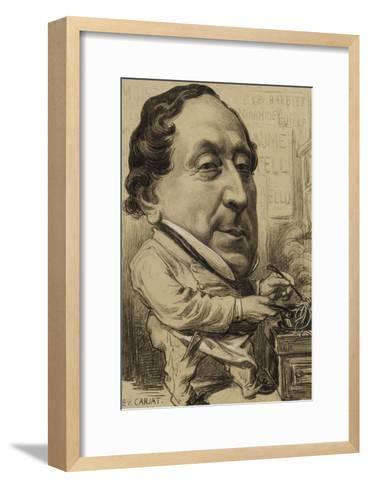 Portrait-charge de Gioachino-Antonio Rossini (1792-1868), compositeur, en cuisinier-Etienne Carjat-Framed Art Print
