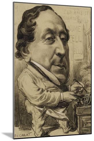 Portrait-charge de Gioachino-Antonio Rossini (1792-1868), compositeur, en cuisinier-Etienne Carjat-Mounted Giclee Print