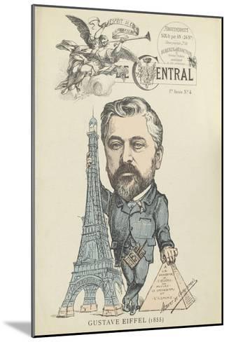 """Caricature de Gustave Eiffel, parue dans """"le Central""""--Mounted Giclee Print"""