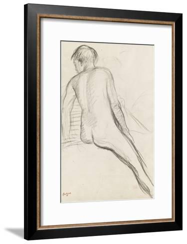 Cavalier nu-Edgar Degas-Framed Art Print