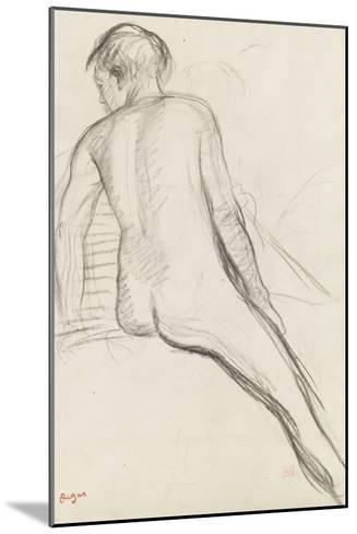 Cavalier nu-Edgar Degas-Mounted Giclee Print